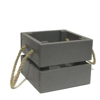 Ящик 13х13х11 серый