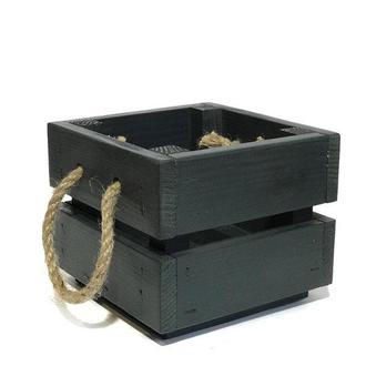 Ящик 12х12х10 темно серый