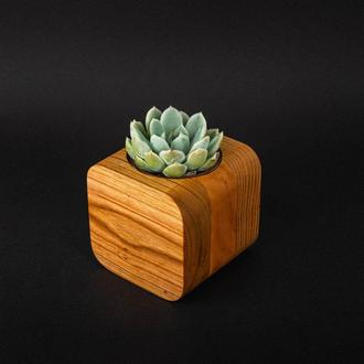 Горшок кашпо деревянный под вазон