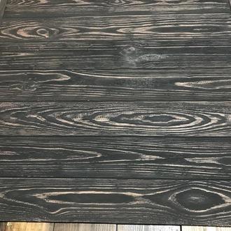 Деревянный фотофон 60х60 коричневый/белый