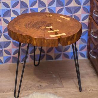 Кофейный столик из спила дуба