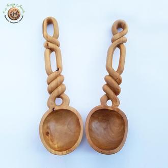 Набор деревянных ложечек из груши