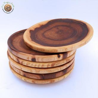 Дерев'яна тарілка з в'яза
