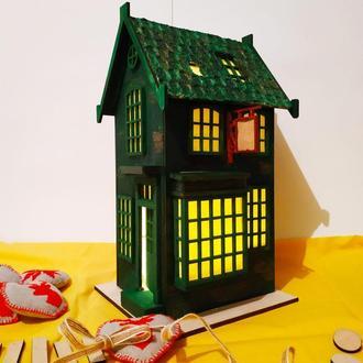 Зеленый декоративный домик из Гарри Поттера