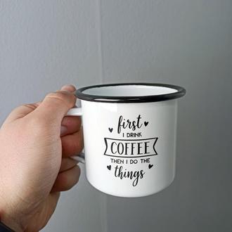 """Эмалированная кружка """"Coffee"""""""