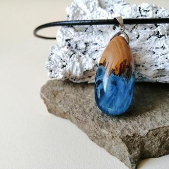 Оригинальная синяя подвеска - подарок девушке
