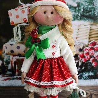 Текстильная игрушка. Новогодняя кукла. Тильда