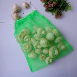 Эко мешок салатовый, еко мешочки для покупок, эко пакет, сеточка, фруктовка, мішечки zero weste