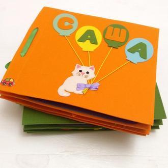 Развивающая мягкая детская книжка