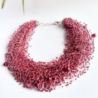 Рябиновое воздушное ожерелье Эксклюзивный подарок Шикарное колье