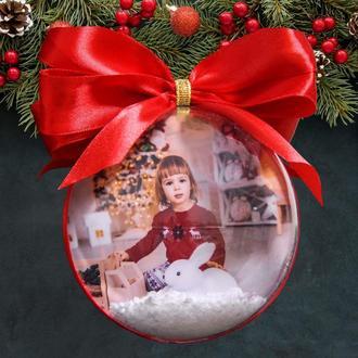 Шар на елку с вашими фото, елочный шар с вашими фото!