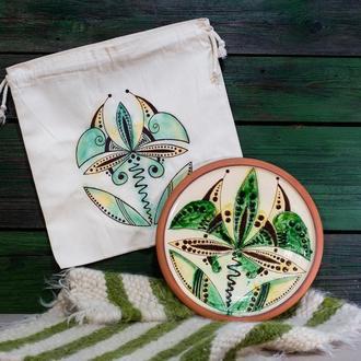 Тарелка с эко сумкой