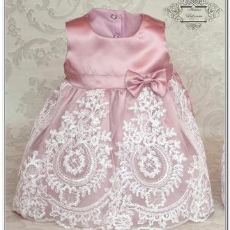 Комплект на выписку для принцессы Версаль  чайная роза