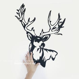 """Деревянная картина-панно  """"Deer 00142"""""""