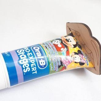 Зажим дозатор диспенсер для тюбика с зубной пастой кремом Губы Затискач дозатор диспенсер для тюбика