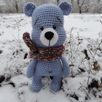 Медвежонок Потопум мягкая вязаная игрушка