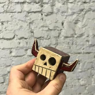 Статуэтка керамическая Черепушка с рожками