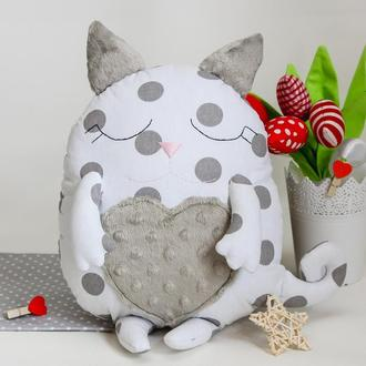 Котик-сплюшка игрушка-подушка