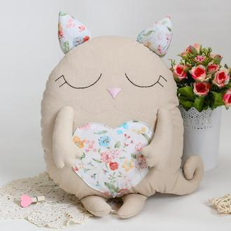 Кот сплюшка игрушка-подушка
