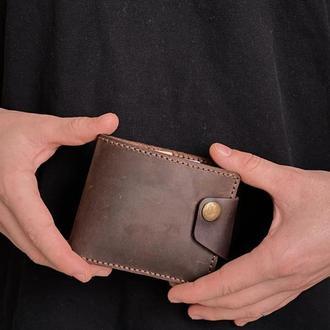 Мужской кошелек из натуральной кожи (Браун)