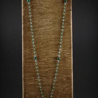 Сотуар из шпинели,малахита и серебра 925 пр.