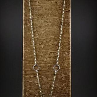 Сотуар из оливина и серебра 925 пр.