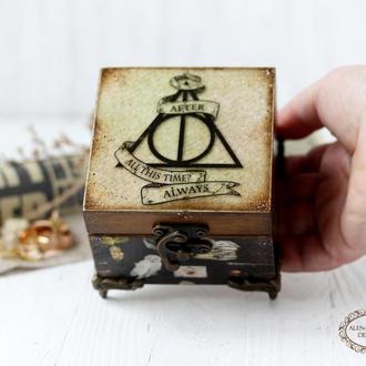 "Шкатулка ""Гарри Поттер"" Always LOVE , шкатулка для колец , тематические подарки, Гарри Поттер"