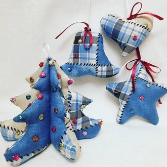 Новогодние игрушки-подвески
