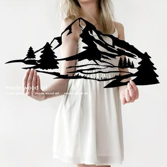 """Деревянная картина-панно """"Mountains"""""""