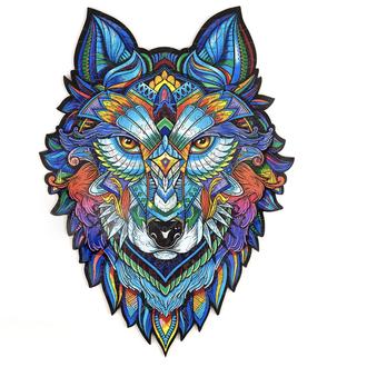 Пазл Волк деревянный