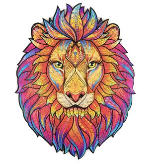 Пазл Лев деревянный