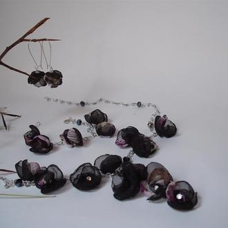 Комплект украшений колье ,серьги и браслет