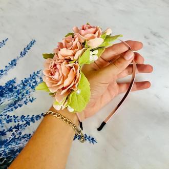 Ободочек с 3 розами