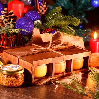 Подарочный Набор/Подарочный бокс/Орехи С Мёдом/Крем-Мёд/Орехи В Меду/Подарок