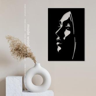 Деревянная картина Girl
