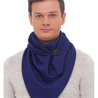 "Шарф-бактус ""Эдинбург"", шарф-снуд, большой шарф, теплый мужской шарф, подарок мужчине"