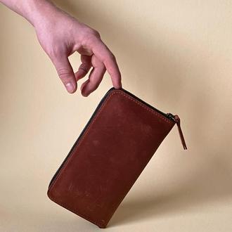 Кожаный кошелек - портмоне