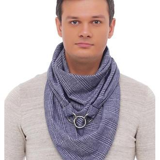 Стильный, трендовый, очень удобный, комфортный и теплый шарф-снуд. Унисекс. Размер 1х1,5 м. Застежка