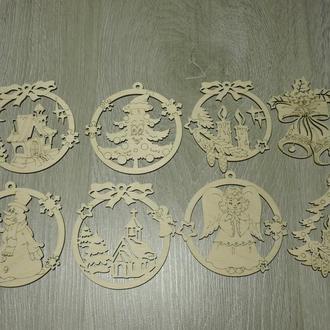 """Дерев'яні іграшки на ялинку """"Новий рік"""" (2209)"""