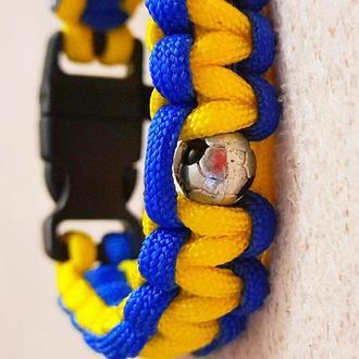 Патриотический браслет, мужской браслет, футбольный браслет