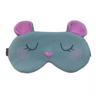 Маска для сна дизайнерская Silenta Серая мышка