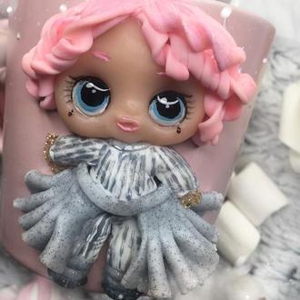 Чашка с куклой Лол