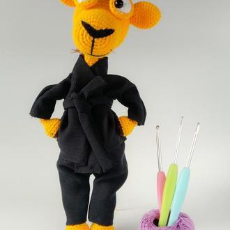 Мягкая игрушка жираф  в кимоно