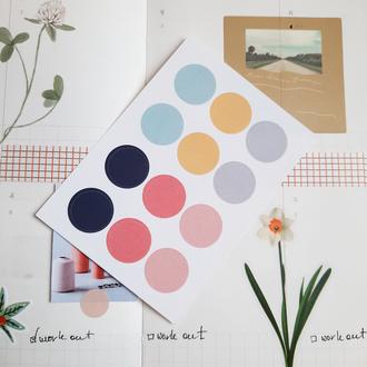 Стикеры Pastel /Наклейки для планера