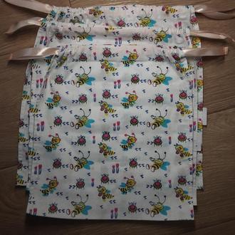 Набор текстильных эко мешочков