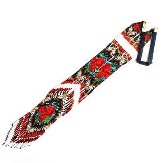 Королевский гердан из бисера, эксклюзивное украшение, приятный подарок