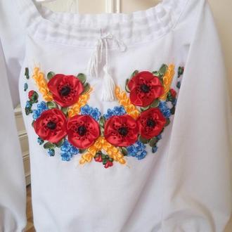 Вышиванка для девочки 2-3 года