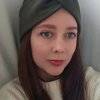 Пов'язка на голову чалма жіноча зелена тюрбан вузлик для волосся на флісі
