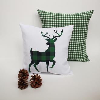Подушка з бик Київ, Новорічна подушка з символом року Київ, корпоративні подарунки, подушка олень