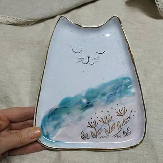Тарелка кот